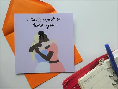I Can't Wait To Hold You says it without you having to. Send to that person you've been missing. One card is £3.50 or three cards for £10.