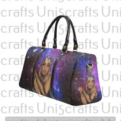 galaxy braids travel bag
