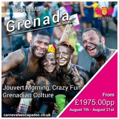 Trip for 2 - Grenada Carnival 2021