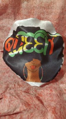 Guyana Afro Queen satin bonnet
