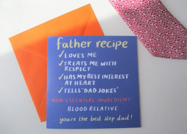 Father Recipe Step-dad greeting card